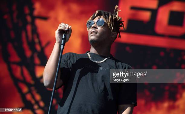 Juice WRLD performs on stage during Leeds Festival 2019 at Bramham Park on August 24 2019 in Leeds England