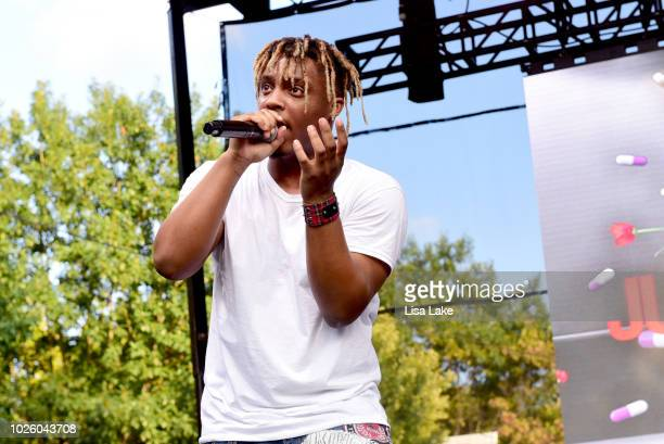 Juice Wrld performs onstage during the 2018 Made In America Festival Day 1 at Benjamin Franklin Parkway on September 1 2018 in Philadelphia...