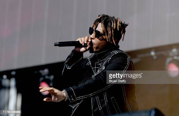 Juice Wrld performs onstage during the 2019 iHeartRadio Music Festival and Daytime Stage at the Las Vegas Festival Grounds on September 21 2019 in...