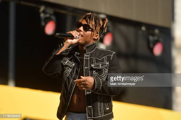 Juice Wrld performs onstage during the Daytime Stage at the 2019 iHeartRadio Music Festival held at the Las Vegas Festival Grounds on September 21...