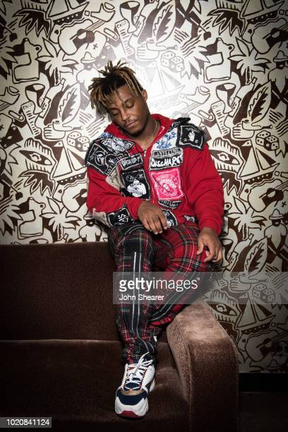 Juice WRLD poses during rehearsals for the 2018 MTV Video Music Awards at Radio City Music Hall on August 18 2018 in New York City