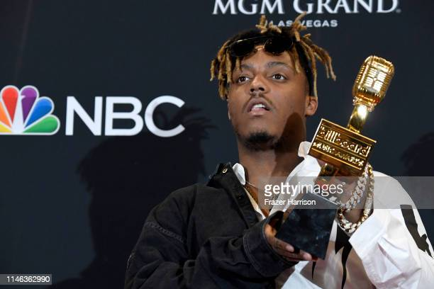 Juice Wrld poses with the award for Best New Artist in the press room during the 2019 Billboard Music Awards at MGM Grand Garden Arena on May 01 2019...