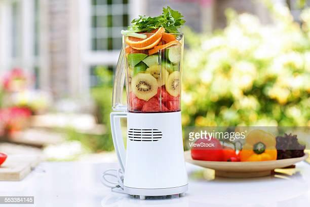 Juicer and vegetables