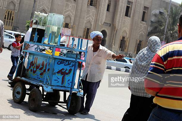 A juices seller its kind of traditional juices like in Tanta city Egypt on Agust 20 2013 Photo Abdallah Adel/NurPhoto