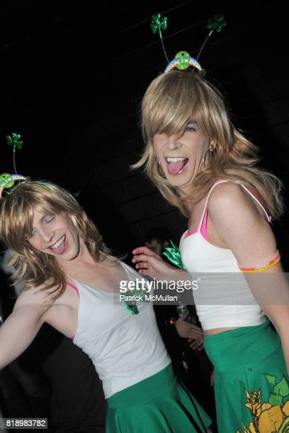 Juicy and Chicklet attend PATRICK MCMULLAN's St Patrick's Day Party at Santos Party House on March 17 2010 in New York City