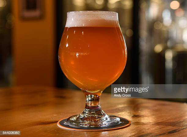Juicy Bits a very popular hazy IPA beer one of many beers at WeldWorks Brewing June 29 2016