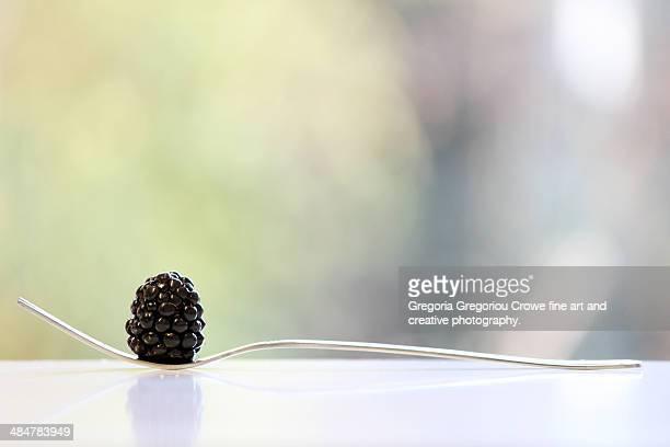 juicy blackberry - gregoria gregoriou crowe fine art and creative photography ストックフォトと画像