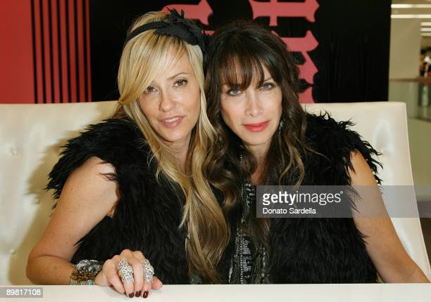 Juicy CoFounders and Creative Directors Pamela SkaistLevy and Gela NashTaylor make an appearance at Bloomingdale's on August 15 2009 in Sherman Oaks...