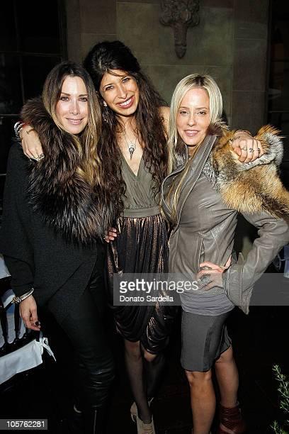 Juicy Couture founders Gela NashTaylor and Pamela SkaistLevy pose with designer Pamela Love at the 2010 CFDA Vogue Fashion Fund Finalists Celebration...