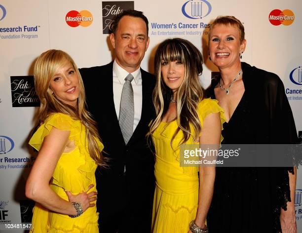 Juicy Couture's co-founder, co-president, co-designer Pamela Skaist-Levy, actor Tom Hanks, Juicy Couture's co-founder, co-president, co-designer Gela...