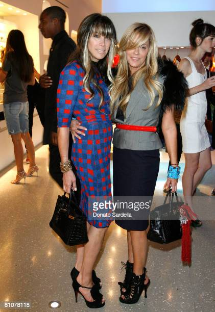 Juicy Couture's cofounders copresidents codesigners Gela NashTaylor and Pamela SkaistLevy during the Alexander McQueen Store Opening at Alexander...
