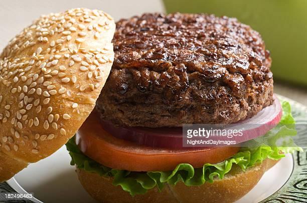 Una jugosa hamburguesa