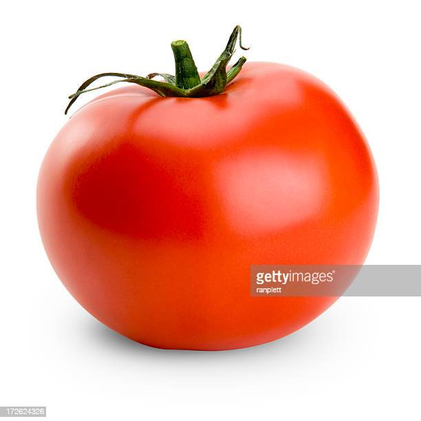Saftiges isoliert Tomate (with Clipping Path)
