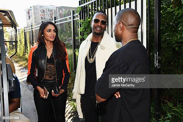 Juicy J and Kanye West attend the Kanye West Yeezy Season 4 fashion show on September 7 2016 in New York City