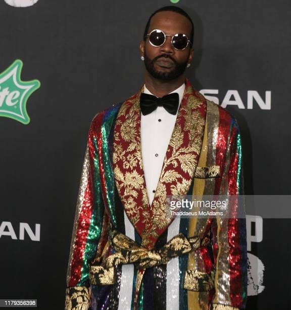 Juicy J arrives to the 2019 BET Hip Hop Awards on October 05 2019 in Atlanta Georgia