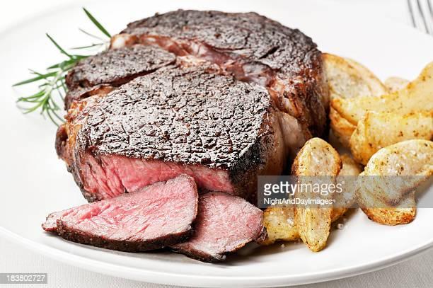 Jugoso bistec de costilla