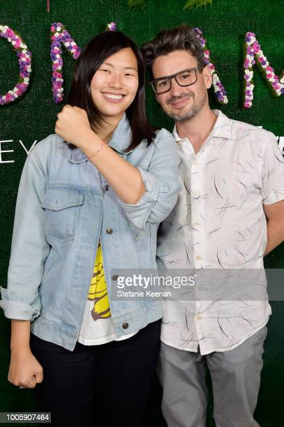 Juiie Oh and David Iserson attend Adina Reyter Friendship Bracelet Launch at Soho House on July 26 2018 in West Hollywood California