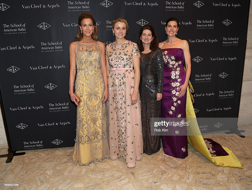 Juila Koch, Jenny Paulson, Diana DiMenna and Laura Zeckendorf attend the School of American Ballet 2013 Winter Ball at David H. Koch Theater, Lincoln Center on March 11, 2013 in New York City.