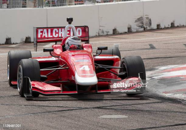 Juilen Falchero during the Indy Lights Race of St Petersburg on March 9 at the Streets of St Petersburg in St Petersburg FL