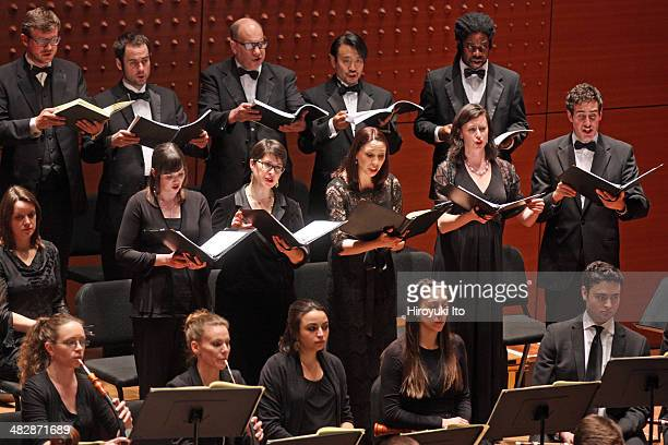"""Juiliard415 and Trinity Wall Street Choir in Bach's """"St. Matthew Passion"""" at Alice Tully Hall on Monday night, March 17, 2014."""