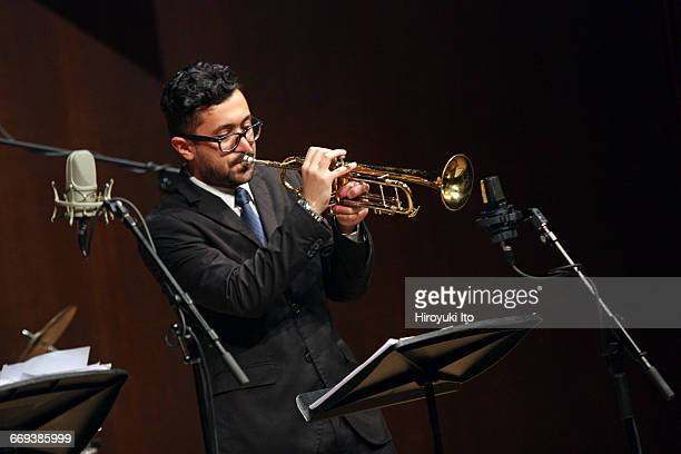 """Juilliard Jazz Artist Diploma Ensemble performing in """"The Early Maters of Jazz: Buddy Bolden, Sidney Bechet, and Louis Armstrong"""" at Paul Hall on..."""