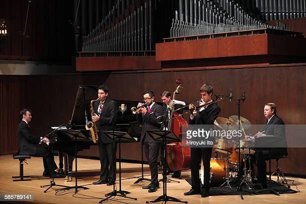 "Juilliard Jazz Artist Diploma Ensemble performing ""The Music of Chick Corea, Herbie Hancock, Wayne Shorter and Joe Henderson"" at Paul Hall on Tuesday..."