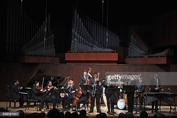 Juilliard Jazz Ensemble performing the music of Israel Cachao Lopez at Paul Hall on March 30 2015