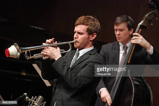 Juilliard Jazz Ensemble performing the music of John Kirby at Paul Hall on March 30 2015This imageFrom left Gabriel Medd and Dan Chmielinski