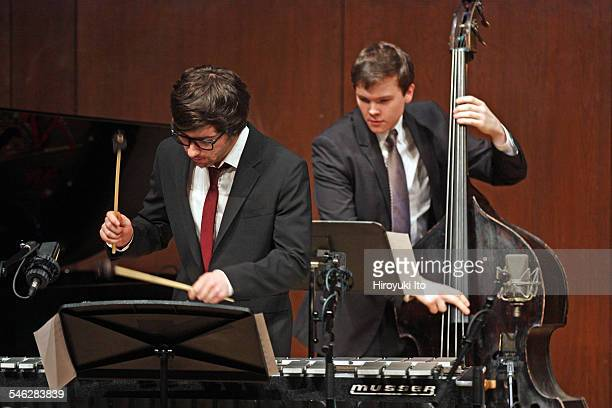 Juilliard Jazz Ensemble performing the music of John Kirby at Paul Hall on March 30 2015This imageFrom left Jacob Chapman and Dan Chmielinski
