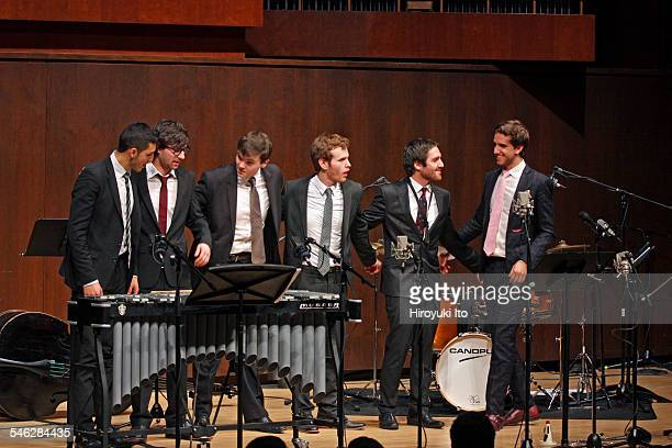 Juilliard Jazz Ensemble performing the music of John Kirby at Paul Hall on March 30 2015This imageFrom left Mathis Picard Jacob Chapman Dan...
