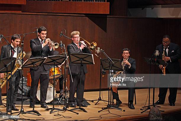 """Juilliard Jazz Ensembles performing """"The Birth of Cool: Miles Davis and Gerry Mulligan"""" at Paul Hall on Tuesday night, February 2, 2016."""