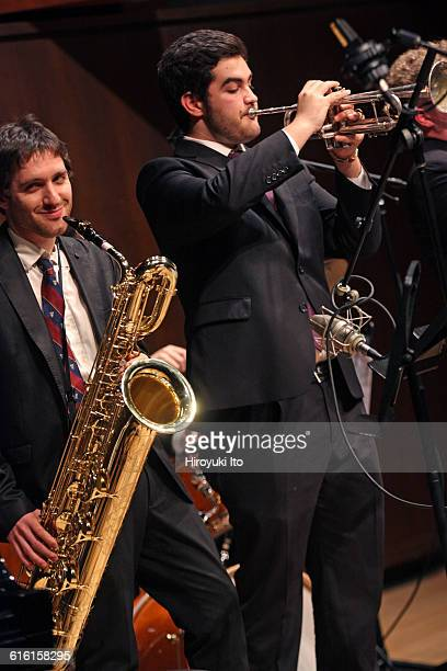 Juilliard Jazz Ensembles performing The Birth of Cool Miles Davis and Gerry Mulligan at Paul Hall on Tuesday night February 2 2016This imageFrom left...