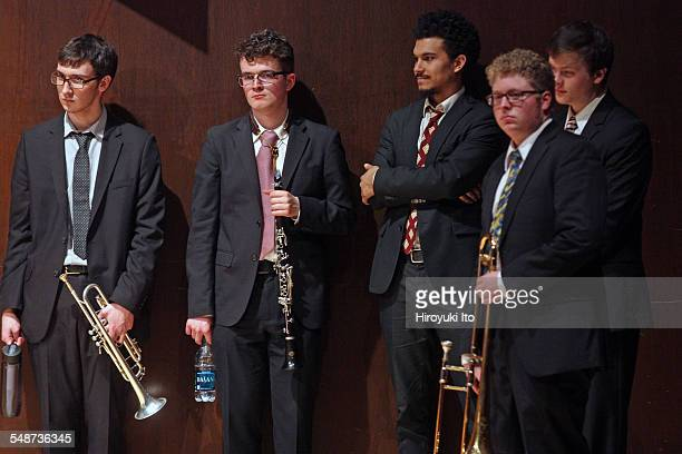 Juilliard Jazz Ensembles performing the music of Jelly Roll Morton and King Oliver at Paul Hall on Monday night April 13 2015This imageFrom left...