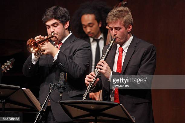 Juilliard Jazz Ensembles performing the music of Jelly Roll Morton and King Oliver at Paul Hall on Monday night April 13 2015This imageFrom left Noah...