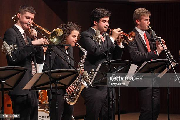 Juilliard Jazz Ensembles performing the music of Jelly Roll Morton and King Oliver at Paul Hall on Monday night April 13 2015This imageFrom left Kyle...