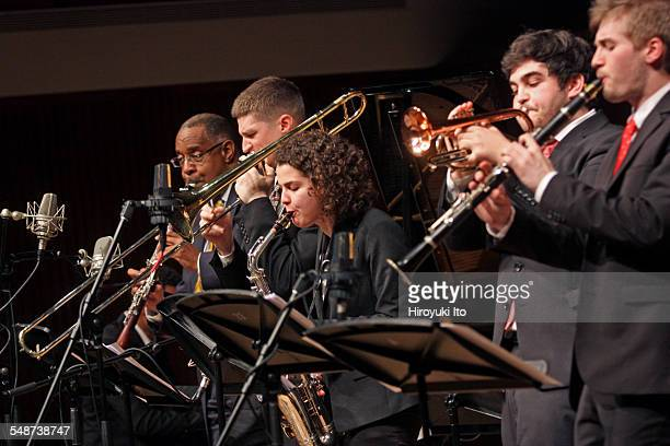 Juilliard Jazz Ensembles performing the music of Jelly Roll Morton and King Oliver at Paul Hall on Monday night April 13 2015This imageFrom left Dr...