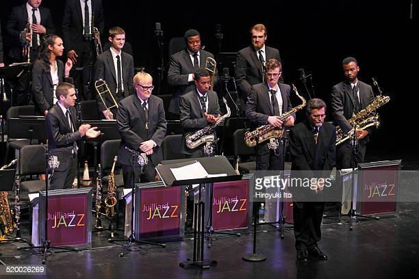 Juilliard Jazz Orchestra at Peter Jay Sharp Theater on Tuesday night, October 14, 2014.This image:Bill Dobbins in front.