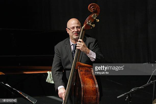 Juilliard Jazz Quartet performing at Peter Jay Sharp Theater on Tuesday night, September 17, 2013.They are:Frank Kimbrough , Ron Blake , Ben Wolfe...