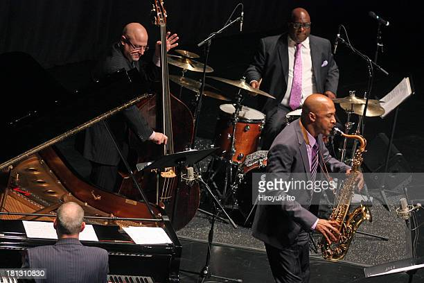 Juilliard Jazz Quartet performing at Peter Jay Sharp Theater on Tuesday night September 17 2013They areFrank Kimbrough Ron Blake Ben Wolfe and Carl...