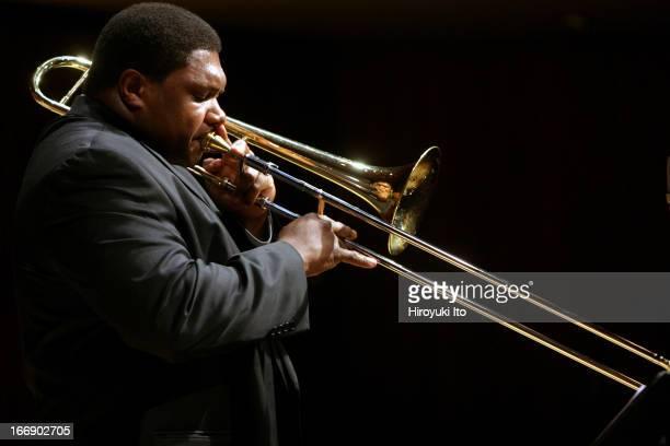 Juilliard Jazz Quintet performing at Paul Hall on Friday night November 11 2005This imageWycliffe Gordon