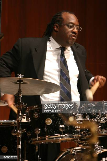 Juilliard Jazz Quintet performing at Paul Hall on Friday night, November 11, 2005.This image:Carl Allen .