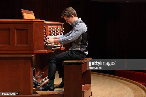Juilliard organists at Paul Hall on April 30, 2015.This image:Greg Zelek.