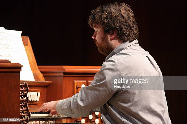 Juilliard organists at Paul Hall on April 30, 2015.This image:Griffin McMahon.