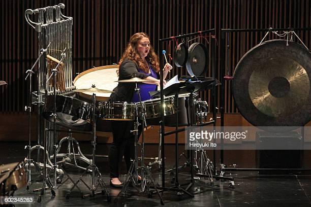 Juilliard School's ChamberFest 2016 at Peter Jay Sharp Theater on Saturday night January 16 2016This imageCaitlin Redding performing Jacob Druckman's...
