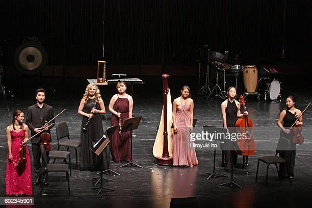Juilliard School's ChamberFest 2016 at Peter Jay Sharp Theater on Saturday night January 16 2016This imageFrom left Carolyn Semes Lucas Stratmann...