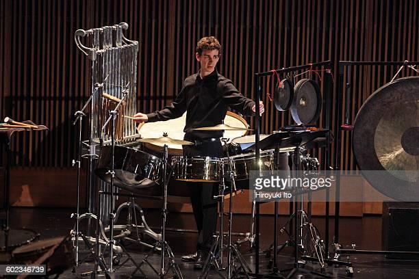 Juilliard School's ChamberFest 2016 at Peter Jay Sharp Theater on Saturday night January 16 2016This imageTony Guarino performing Jacob Druckman's...