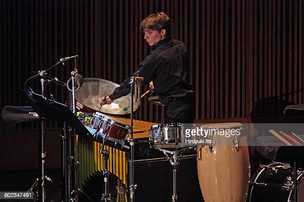 Juilliard School's ChamberFest 2016 at Peter Jay Sharp Theater on Saturday night January 16 2016This imageGreg LaRosa performing Jacob Druckman's...