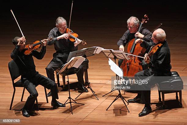 Juilliard String Quartet performing the music of Beethoven Jesse Jones and Schubert at Alice Tully Hall on Thursday night November 21 2013From left...