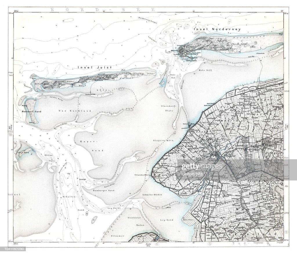Juist Karte.Karte Des Deutschen Reiches In 660 Einzelblättern Im Maßstab News
