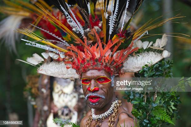 Juiwika Tribe from Western Highlands at Singsing at the Paiya Show in Western Highlands Papua New Guinea